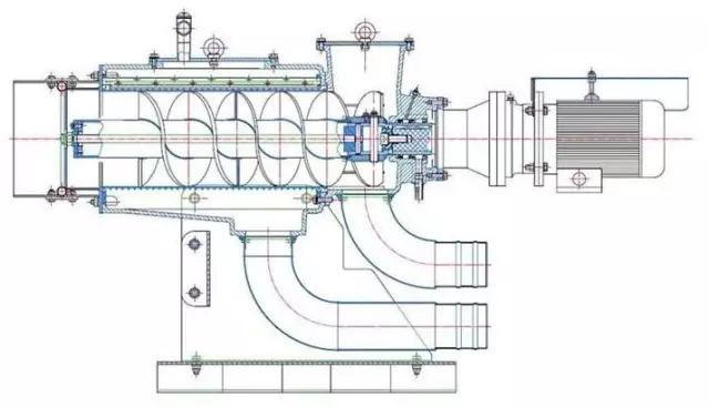 螺旋挤压式固液分离机设计图