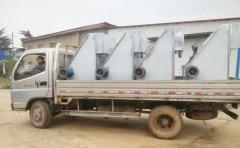 湖南一养猪场订购四台斜筛式固液分离机发货